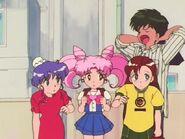 Momoko, Chibiusa, Aki, Kyusuke