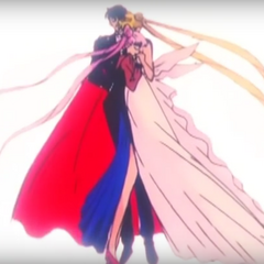 Neo Queen Serenity and Mamoru Saves Black Lady