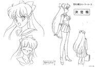 Minako and Venus Anime Design
