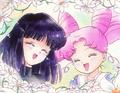 Hotaru and Chibi-Usa episode 118