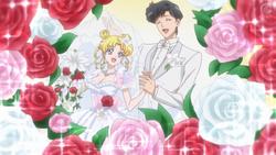 Usagi y mamoru casandose en un sueño (ep 27 crystal)
