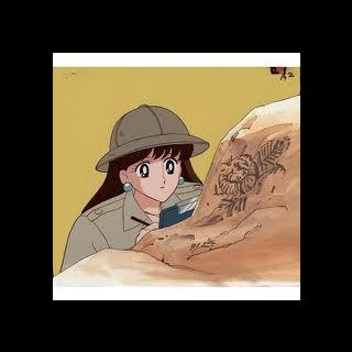 Reika estudiando arqueología.