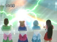 Sailor Moon, Sailor Mercury, Sailor Jupiter i Sailor Mars atakują PGSM - act16