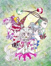 Sailor Quartetto y Chibi Moon
