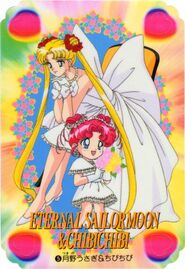 Usagi and Chibi Chibi In White Dresses