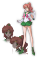 Sailor Jupiter Crystal Design