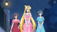 Sailor moon crystal 04 rei usagi and ami as princesses