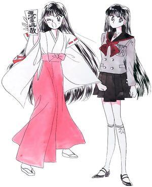 Rei - strój miko i mundurek
