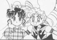Chibiusa introduces Momoko in the Black Moon arc