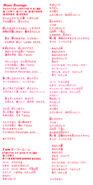 Moon Revenge Single Lyric sheet
