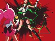 Tellu attacks Sailor Pluto