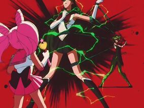Tellu attacks Sailor Pluto