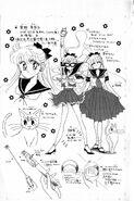 Minako and Sailor V profile in the back of volume 1