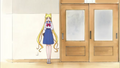 Usagi standing in the hall
