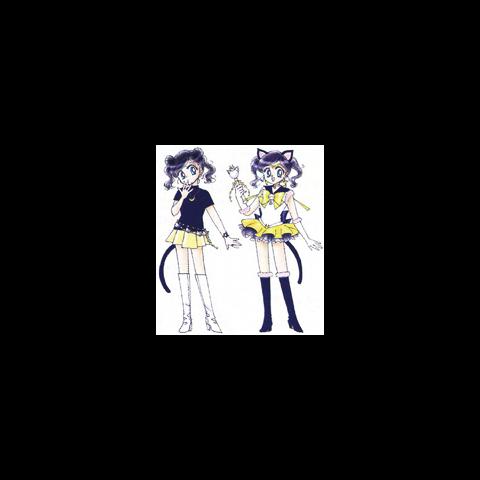 Luna Humana y Sailor Luna originales.