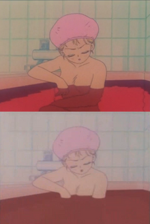 Bathing scene comparison