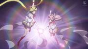 Sailor moon crystal act 36 super sailor moon and super sailor chibi moon attack