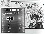 Ami scores the highest score the Sailor V game