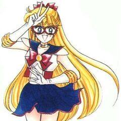 Mina como Sailor V en el manga <i>Codename wa Sailor V</i>.