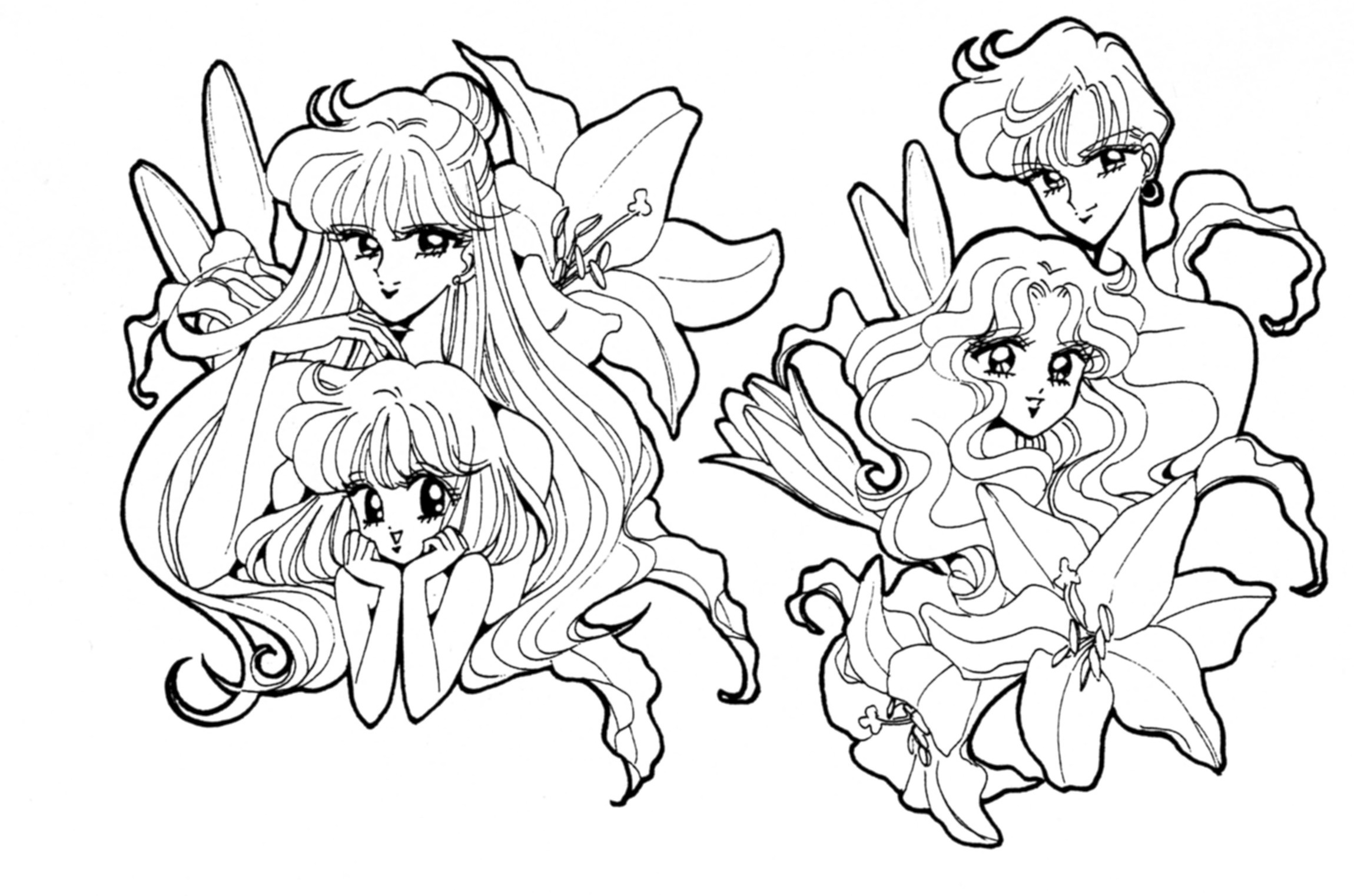 Outstanding Sailor Mini Moon Coloring drawing and coloring for kids