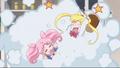 Usagi and chibiusa fighting act 27