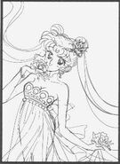 Princess Serenity Flower Sketch