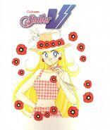 Minako on the back of volume 2