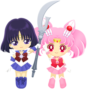 Sailor Chibi Moon & Sailor Saturn