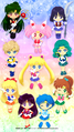 Inner and Outer Senshi wallpaper