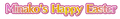 Minako's Happy Easter logo