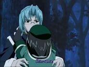 Ayumi hugs shin again