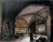 Eglise de Saints Row - Concept art bureau de Johnny Gat