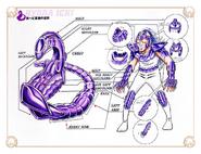 Schéma de l'Armure de l'Hydre