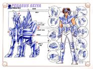 Schéma de la 3ème Armure de Pégase