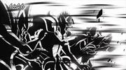 Diana, Romulo y Baco siendo desintegrados