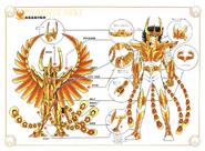 Schéma de la 2nd Armure du Phénix