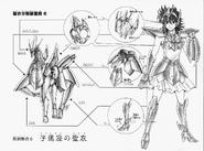 Schéma de la 2nd Armure du Petit Cheval