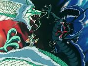 Shiryu vs Dragón Negro