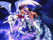 Seiya VS Shiryu