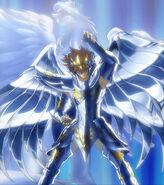 Tenma portant l'Armure Divine de Pégase