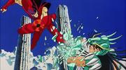 Jan destruye el escudo de Shiryu