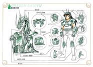 Schéma de la 1ère Armure du Dragon