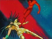 Shura salva a Shiryu