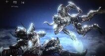 KotZ Netflix, Sagittarius Aiolos dodge Capircorn Shura's attack