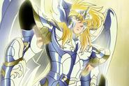 Hyôga portant l'Armure Divine du Cygne