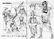 Schéma de l'Armure de Cassiopée