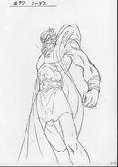 Boceto de Hades por Shingo Araki
