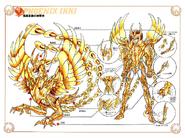 Schéma de l'Armure Divine du Phénix