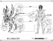 Schéma de la 2nd Armure de Pégase (TLC)