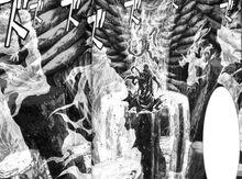 Gaia absorbe el dunamis de los titanes caídos.